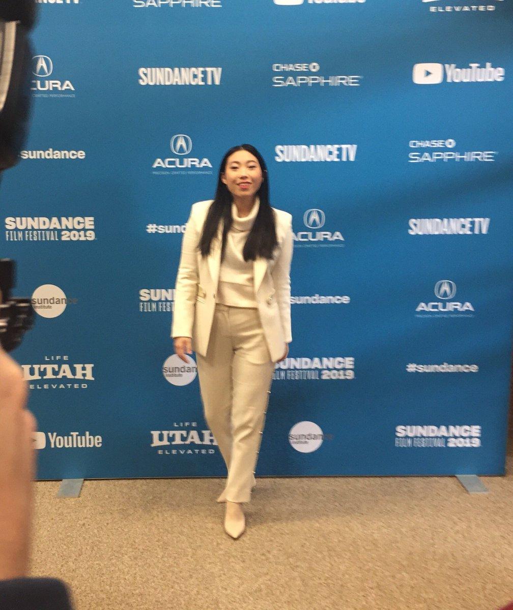 #SundanceFilmFestival2019 @awkwafina  hitting the red carpet in Park City for The Farewell