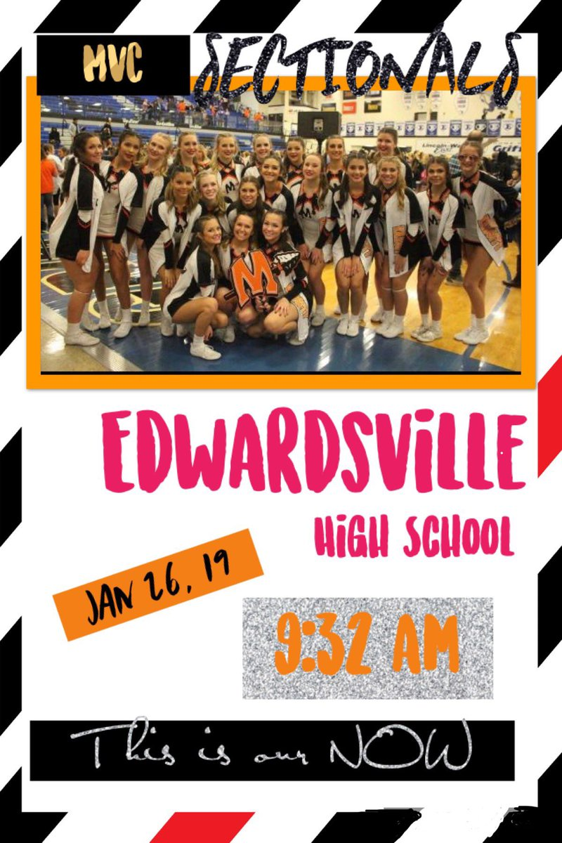 IHSA CHEER SECTIONALS is Tomorrow!!! Your Varsity INDIANS take the mat at 9:32. Competition is at Edwardsville High School!!  LET'S GO INDIANS🧡🖤🧡🖤 #indianpride #thisisournow #letsgetthisbread