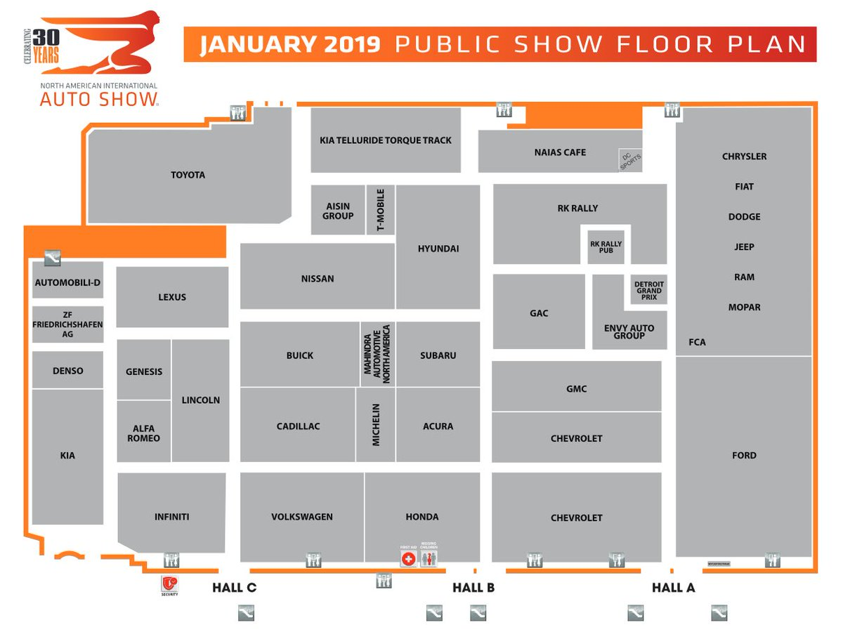 North American International Auto Show On Twitter Trying To Find Your Way Around Get The Naias2019 Show Floor Plan Here Https T Co Vwm82eisjg Naias