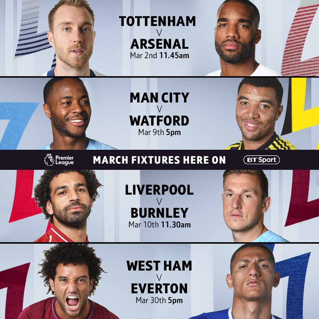 Liverpool Vs Tottenham, Arsenal Vs Man Utd Among Games