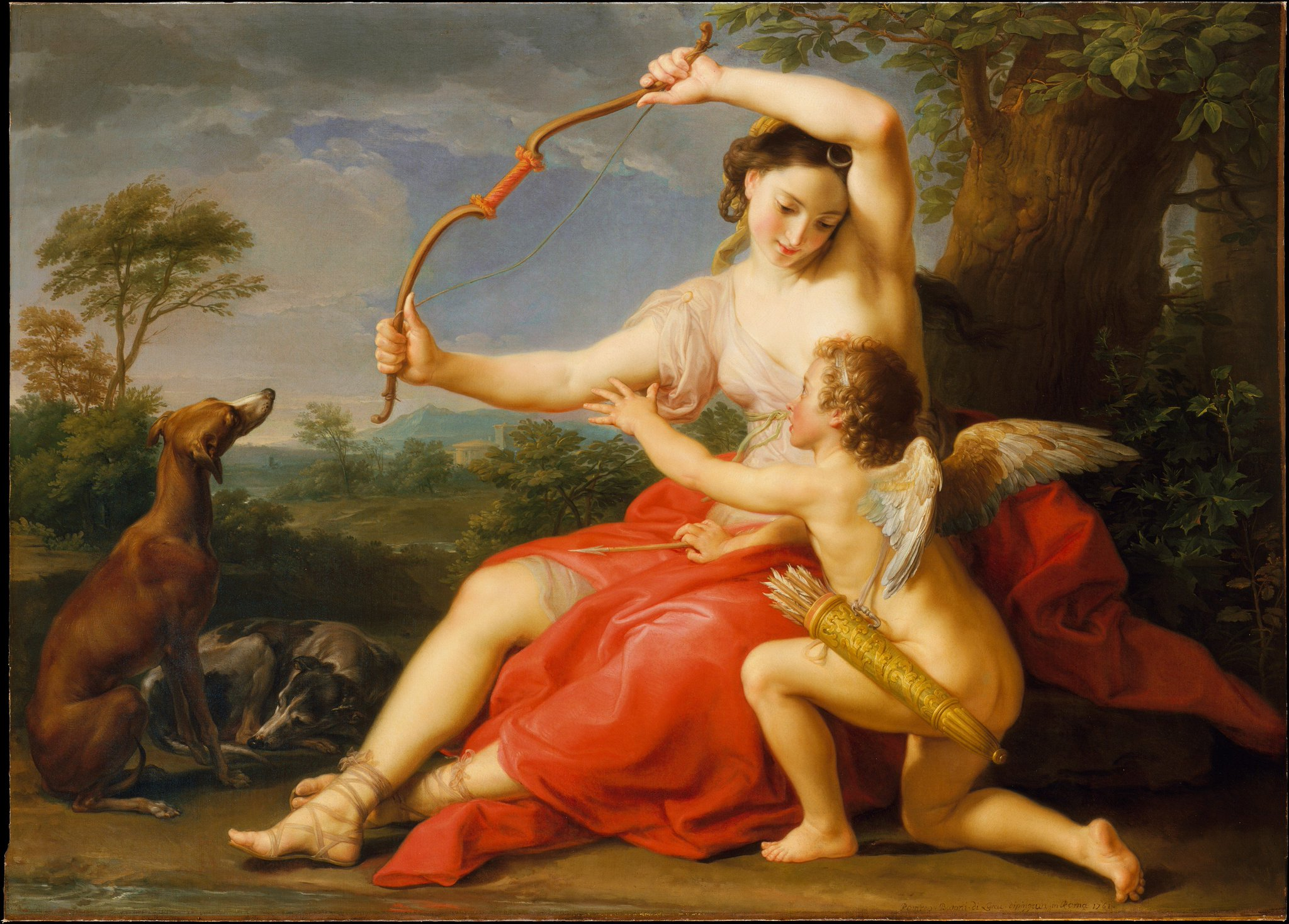 The Metropolitan Museum of Art, New York: Italian painter Pompeo Batoni was born on this day in 1708. Batoni's 'Diana and Cupid...