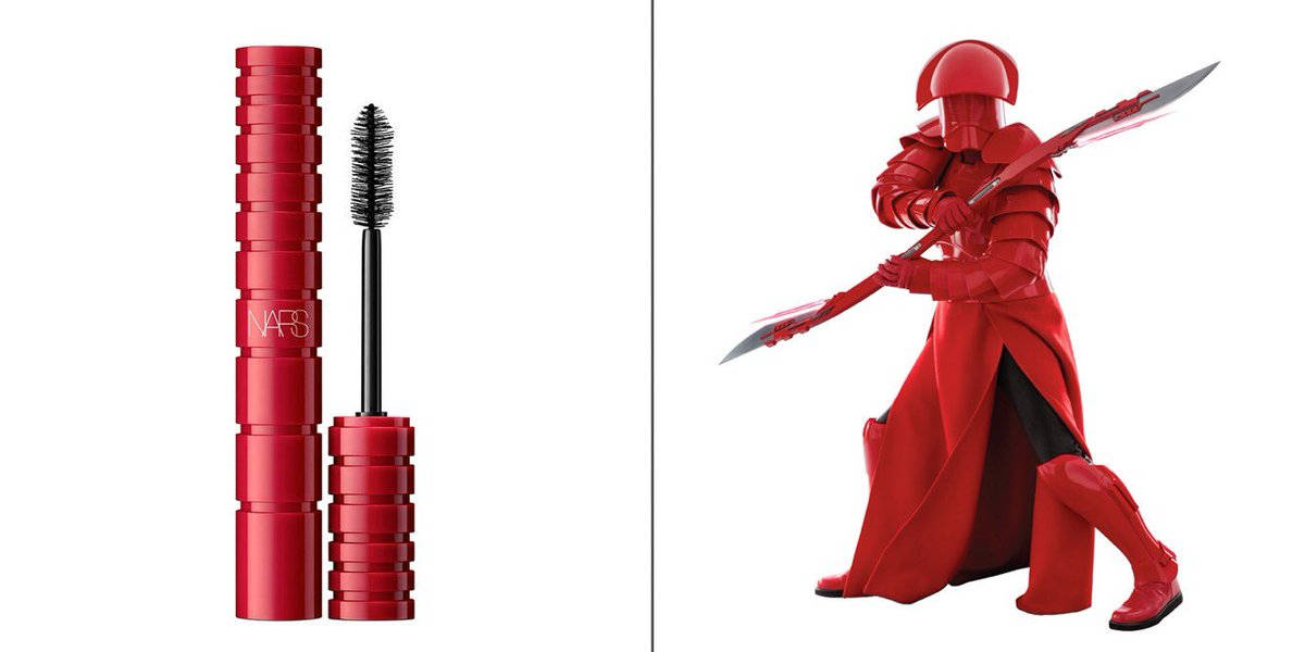 I trust Nars as a cosmetics brand, but the real reason I decided to try the Climax mascara was because the packaging reminded me of the Praetorian Guards in Snoke's throne room.