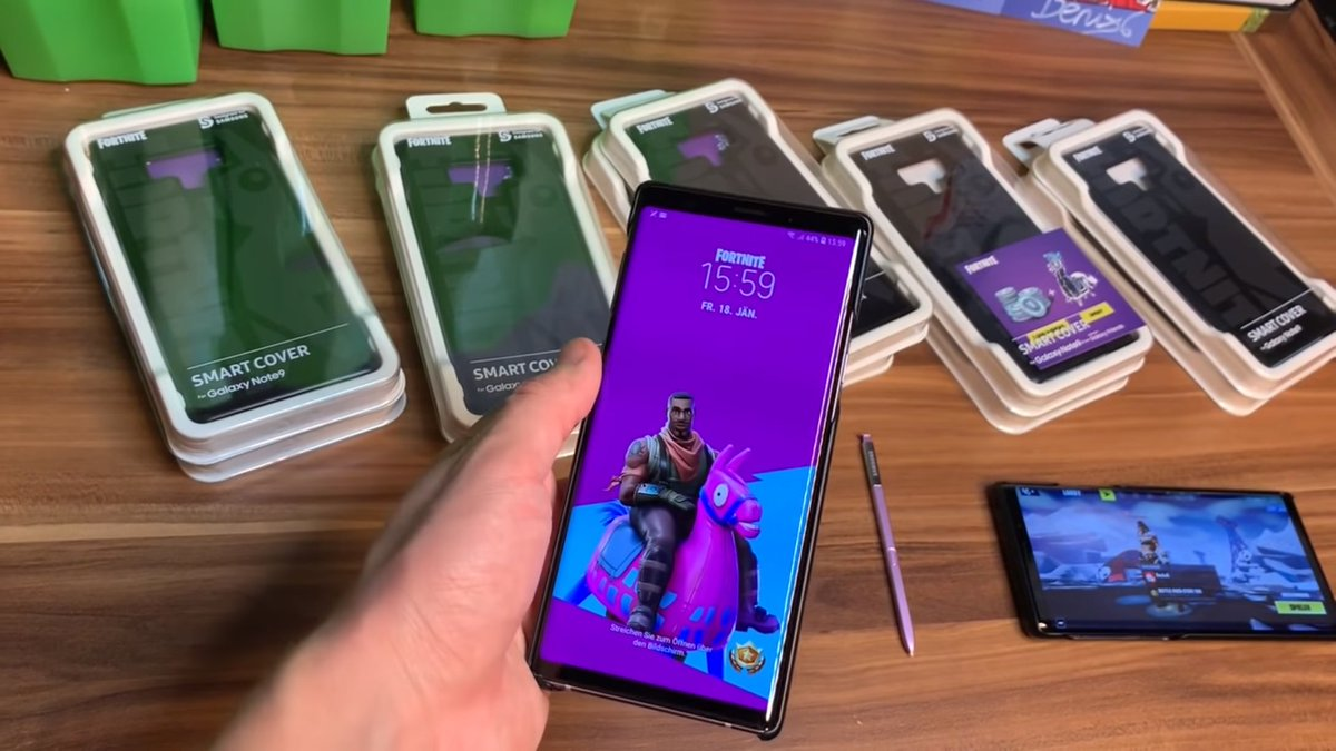 Shiinabr Fortnite Leaks On Twitter Here S What You Get For The Fortnite Case For The Samsung Galaxy Note 9 1 Home Lockscreen Wallpaper 2 Galaxy Llama Spray 3 1 000