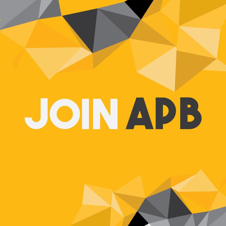 Gold Graphic With Low Poly Triangles As Background Stating Join Apb In