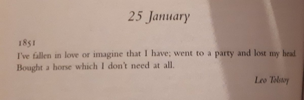 Exactly 168 years since Leo Tolstoy wrote the greatest diary entry of all time.