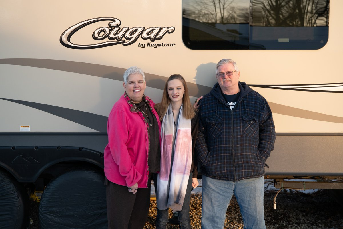 ... RV owner, Cheryl Kilroy. Cheryl has been one of our biggest advocates  and friends since the purchase of her first Keystone in 2013!