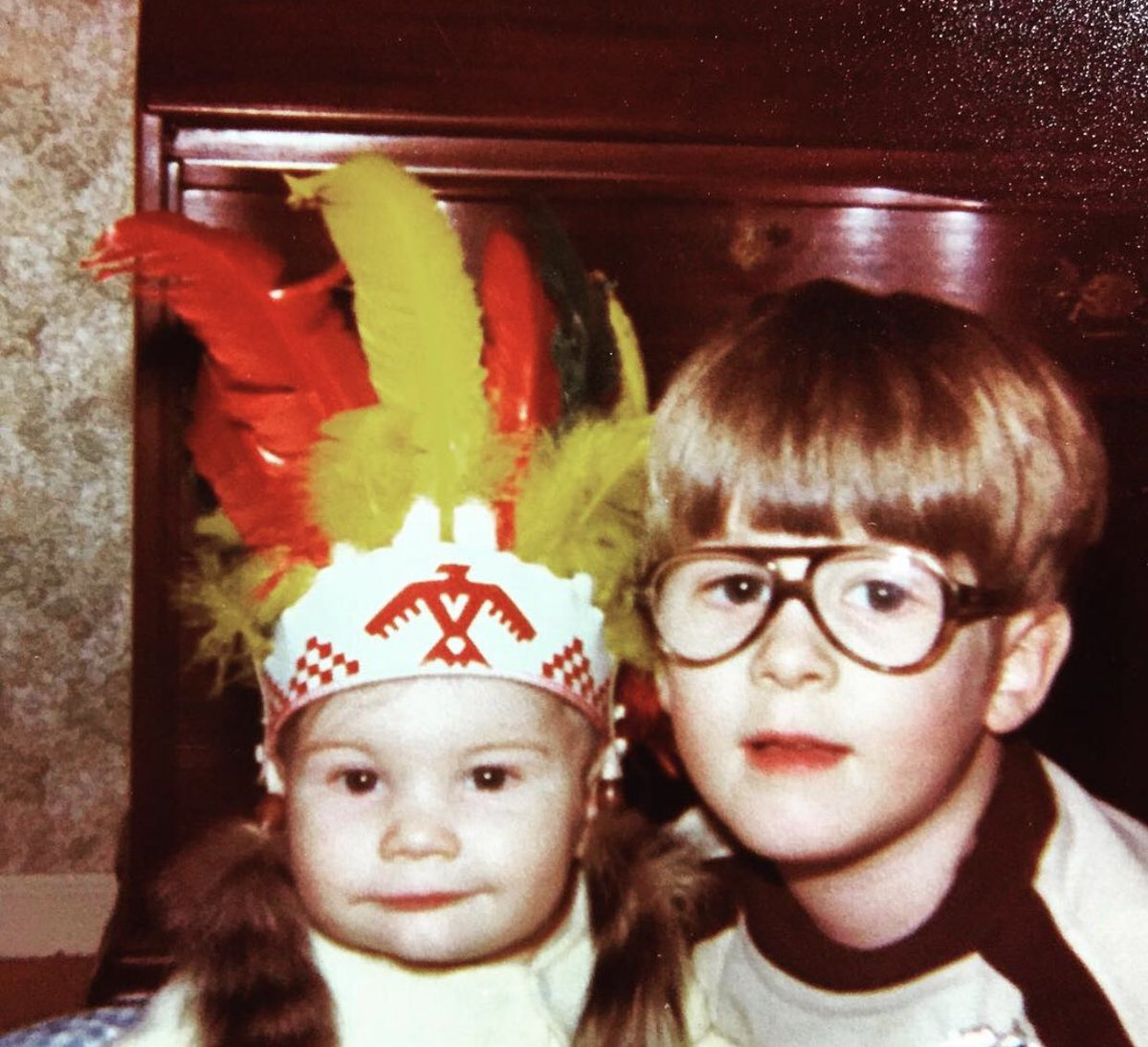 FLASHBACK Friday to myself as a 6 year old boy (and yes my little brother is wearing a headdress ) #flashbackfriday #flashback #myselfasachild #throwback #rewindtime #mybrotherandi #headdress #glennhetrick @glenn_hetrick_ #the80s #glasses #oldschool #glassesboy #6yearold<br>http://pic.twitter.com/TIf2wQo9V0