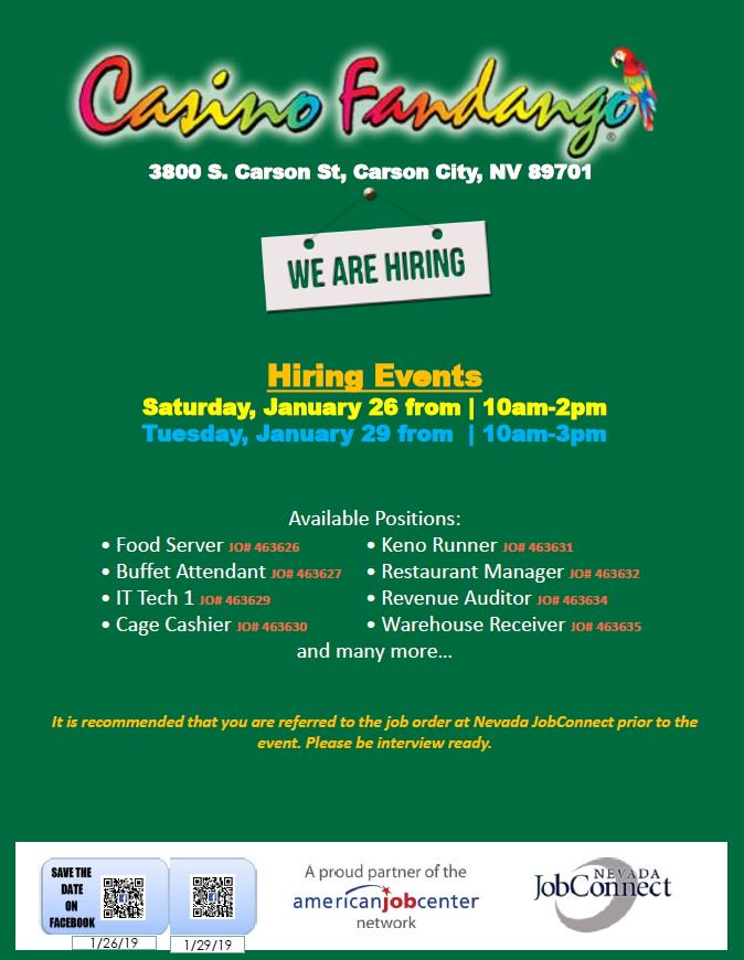 Washoe Native Tanf On Twitter Hiring Events In Carson Cityshow
