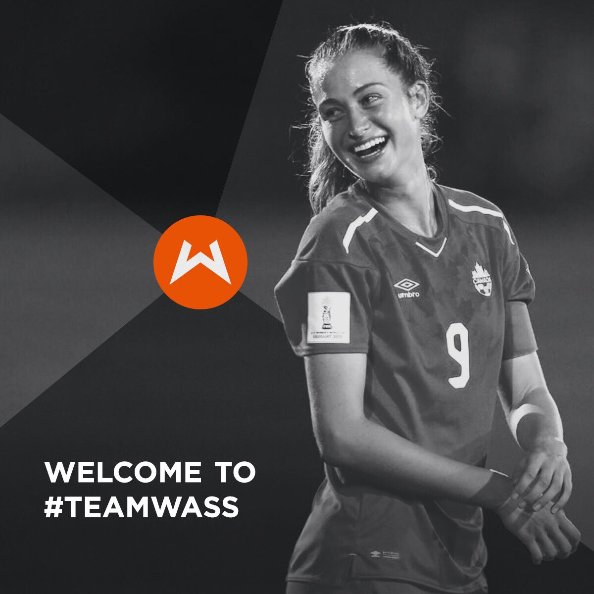 Thrilled to welcome rising Canadian soccer star @JordynHuitema to #TeamWass! Let's get to work 💪