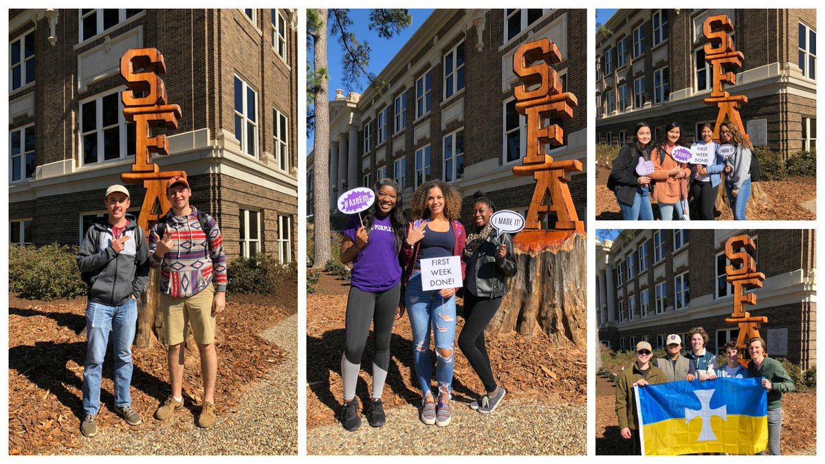 You made it through the first week of the semester! To see more first-week photos, visit http://facebook.com/sfasu.