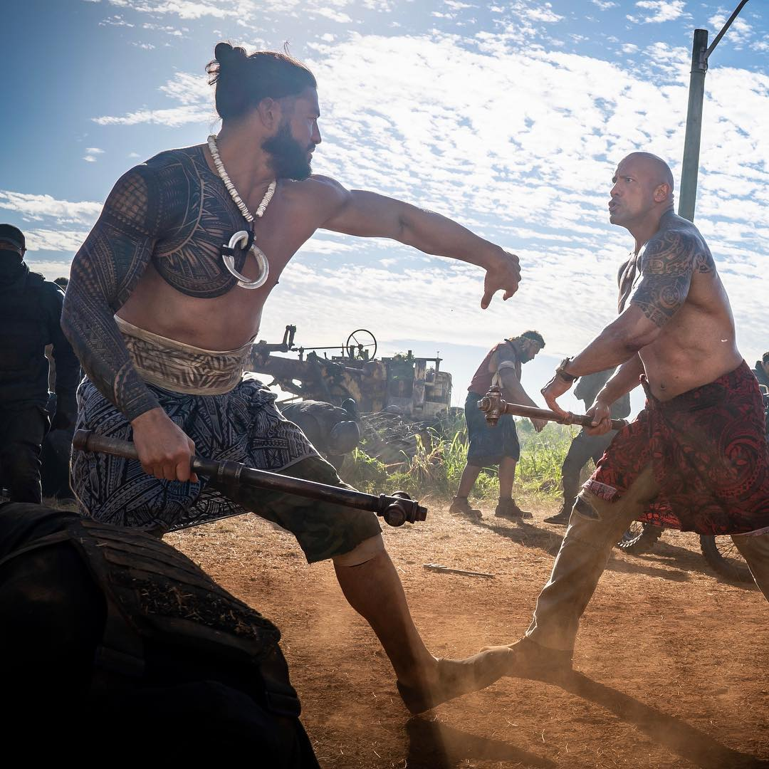 Photos Of The Rock & Roman Reigns Shooting Fast & Furious