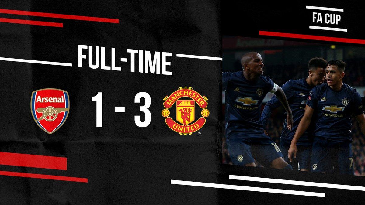 نهاية اللقاء بفوز #يونايتد 3-1.