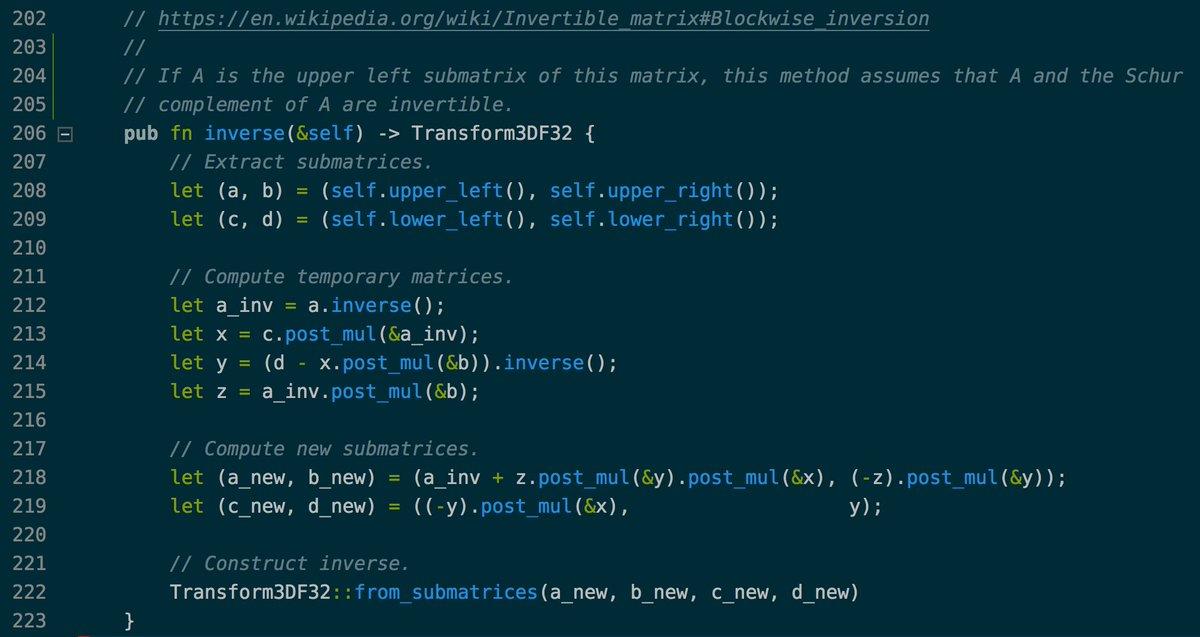 4x4 matrix inverse