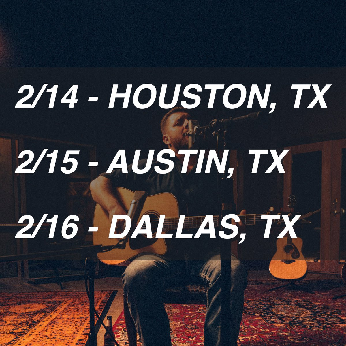 I'm excited to be performing three shows in Texas this February with @MarcBroussard! We'll be hitting The Heights Theater in Houston, Antone's in Austin and The Kessler in Dallas.  Visit my website http://www.davidgracemusic.com/tour for tickets