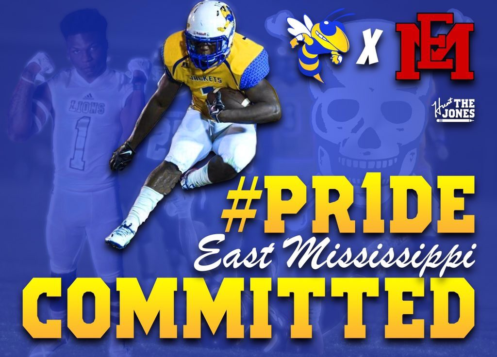 Very HONORED to say that I am committed to EAST MISSISSIPPI@EMCCathletics Ready to be apart of the LION FAMILY #Jacket4Life @CoachHJones for the pic @stmartinsports @TheJeffTakeWXXV @CoastCoverage #SWAMPBABY4LIFEpic.twitter.com/rWlx6zXhfE