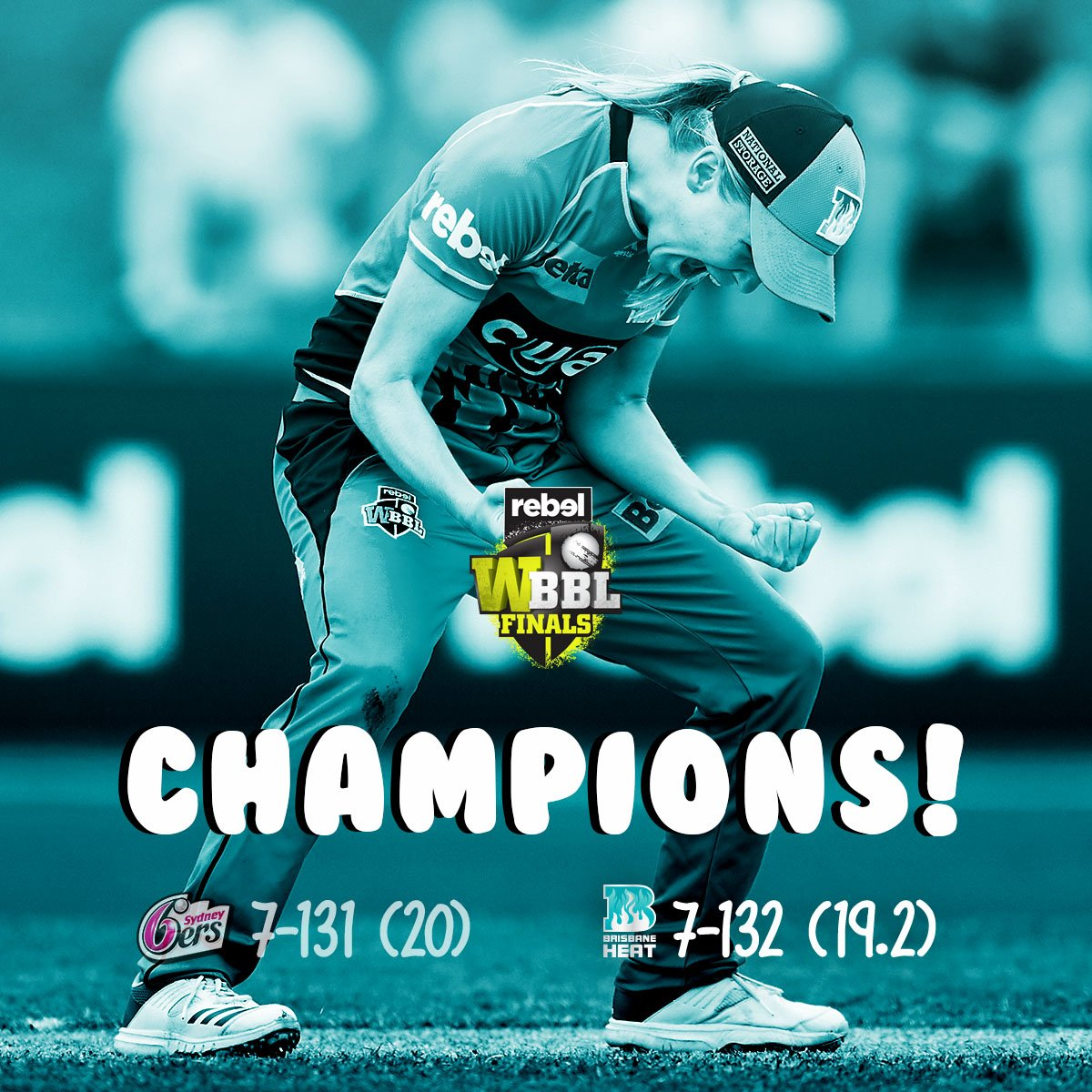 THE BRISBANE HEAT ARE THE #WBBL04 CHAMPIONS! #WBBLFinal