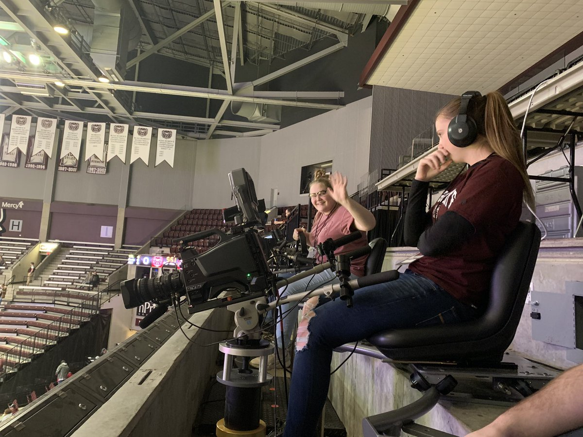 RSHS media team at JQH Arena seeing ESPN And MSU taking it to the next level!