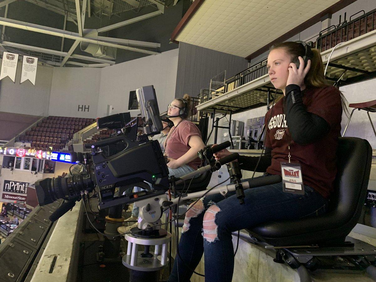 2018 RSHS graduates working hard at JQH Arena live streaming for ESPN #RSHS #wolvesmedia