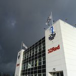 Looking a bit stormy at Deepdale this afternoon but turned out fine in Bolton later! #pnefc #Deepdale #preston