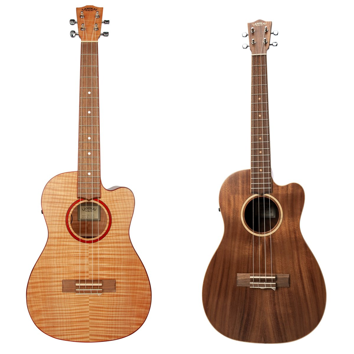 At NAMM we released 2 NEW Electric Cutaway Baritone Ukuleles in Flame Maple and Acacia Solid Top.  Have you ever played a baritone ukulele? Let us know! See all of our 2019 releases at:  http:// ow.ly/aZ6450kIMGq      #lanikaiukulele #ukulele #baritoneukulele <br>http://pic.twitter.com/zINeBIHar1