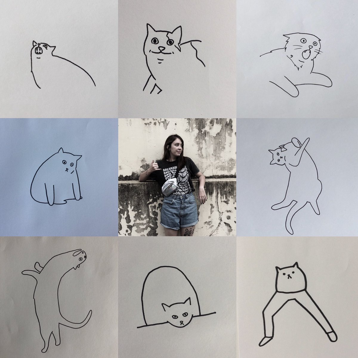 #artvartist hello this is me i draw cats and i love cats and i like to make people happy