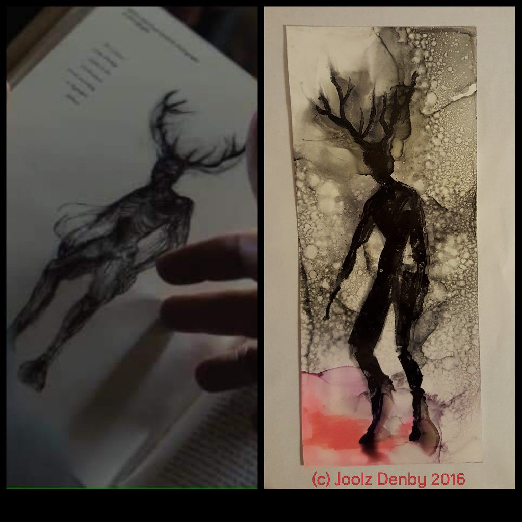 . @starryguys on the right - my 2016 Herne art for @officialnma brilliant album Winter. On the left, your image for your new film #PetSematary. I don&#39;t know what to say other than it&#39;s rude to use art without asking or paying. You wouldn&#39;t like it. <br>http://pic.twitter.com/k3LLqyQiX1