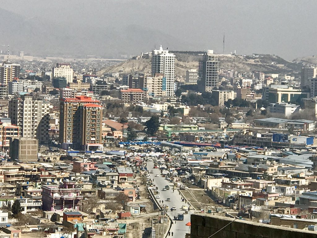 stunning view of #kabul's central parts.   the city has much changed in the past 17 years.   It had been reduced to rubble in the 1990s but now tall buildings are rising  in every corner of the city to accommodate 5 million residents.   #Afghanistan