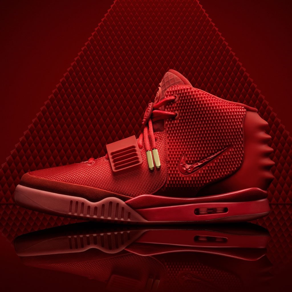 """purchase cheap bc31a 34a0b  KanyeWest s """"Red October"""" Nike Air Yeezy 2 dropped on this day 5 years  ago. What memories of that historic launch do you  have pic.twitter.com VaotxtDj3X"""