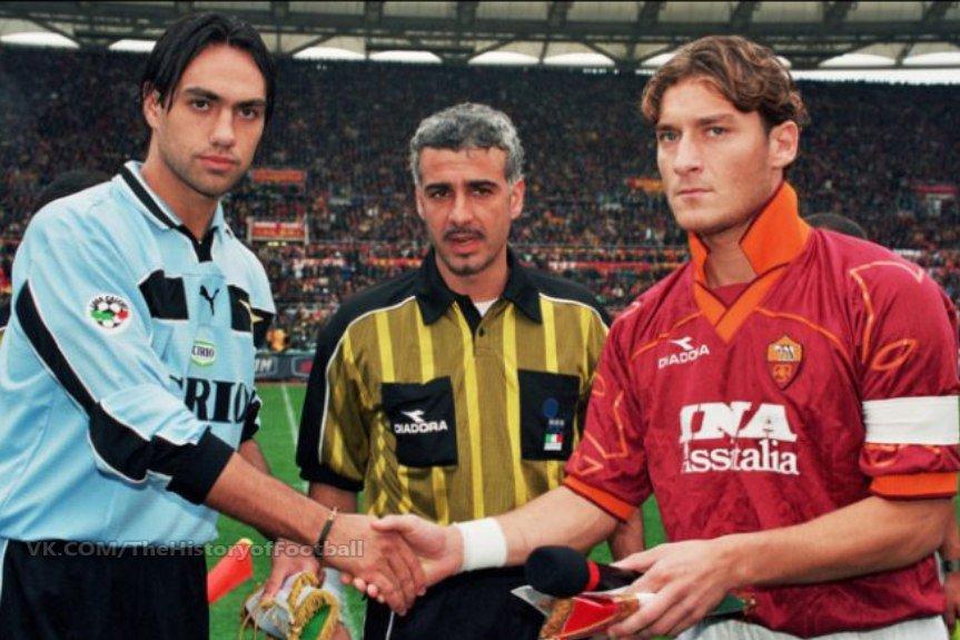 "90s Football on Twitter: ""Alessandro Nesta and Francesco Totti.… """
