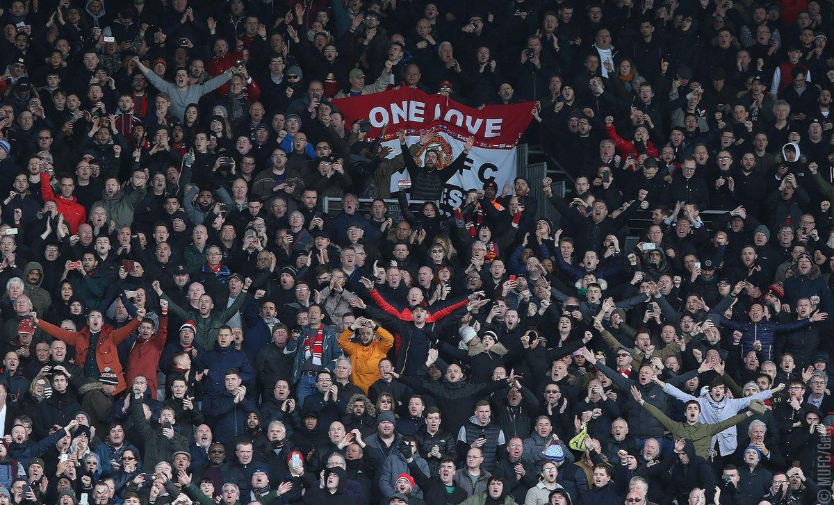 Best fans in the world. Imagine disagreeing. #MUFC
