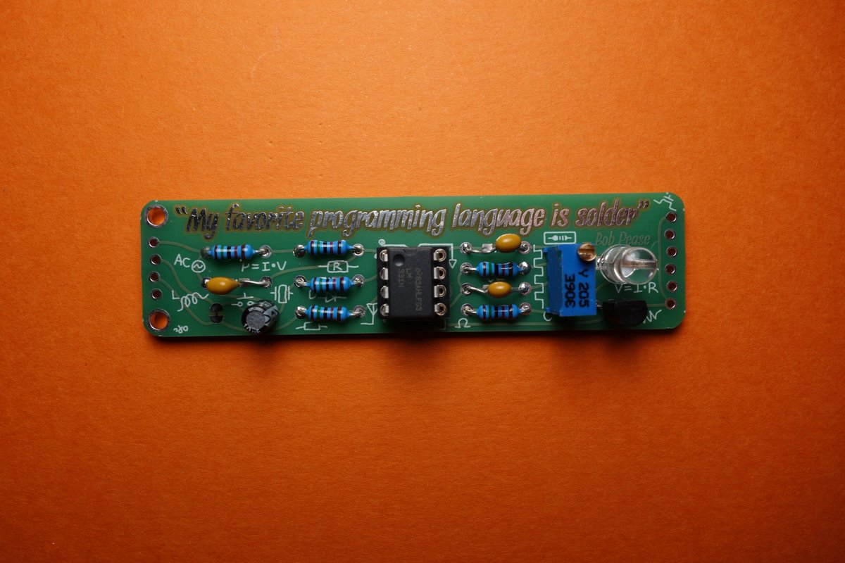 Finally finished the latest #BoldportClub project,  a rather nice tribute to Bob Pease. @boldport