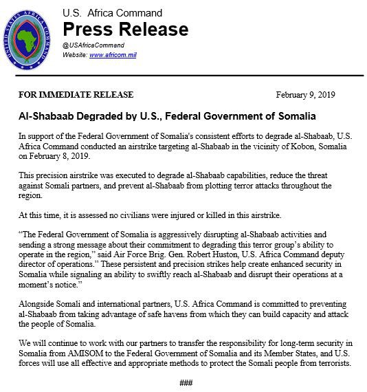Al-Shabaab Degraded by U.S., Federal Government of Somalia - http://go.usa.gov/xERGH