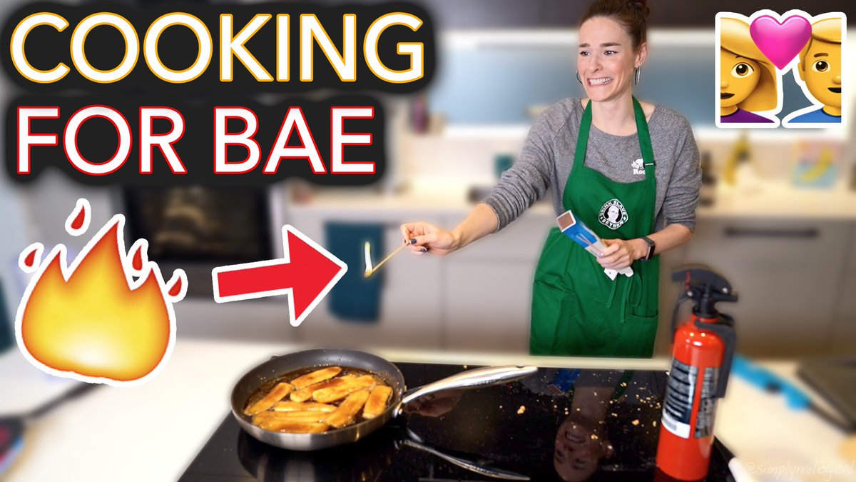 Things were FIRE for my bae this Valentine's Day 🔥❤️😘  NEW VIDEO🎥 WATCH⤵️ http://bit.ly/CookingForBae