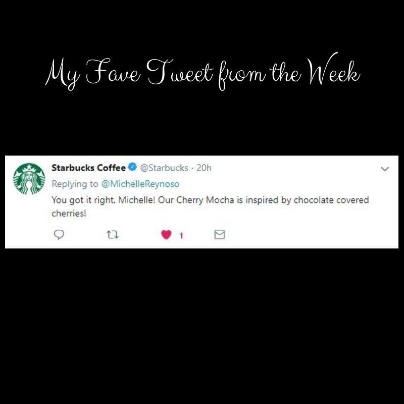 This is my favorite Tweet of the week - a response from Starbucks. How cool! #starbucks #favetweet #twitter #favorites #CherryMocha <br>http://pic.twitter.com/eYe4mZoPiD