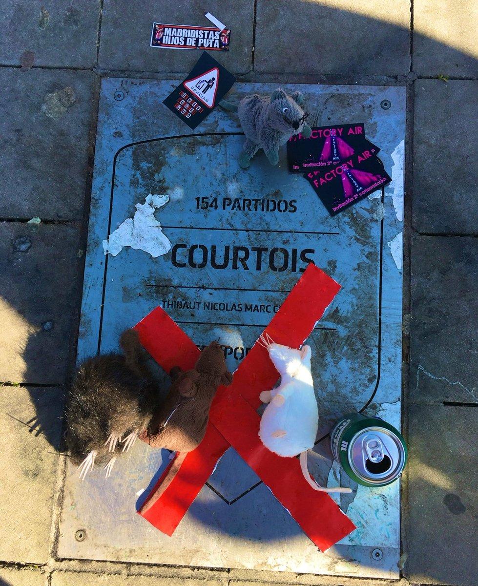 La Thibaut Courtois fue llenada de ratas en los alrededores del Wanda Metropolitano
