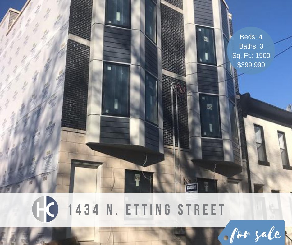 #NewListing 1 of 5 new properties under construction right now. The first is a #Brewerytown home, complete with 4 Beds, 3 Baths, and Roofdeck. The best part about getting in on these homes now? Early buyers will be able to customize some aspects of the home!