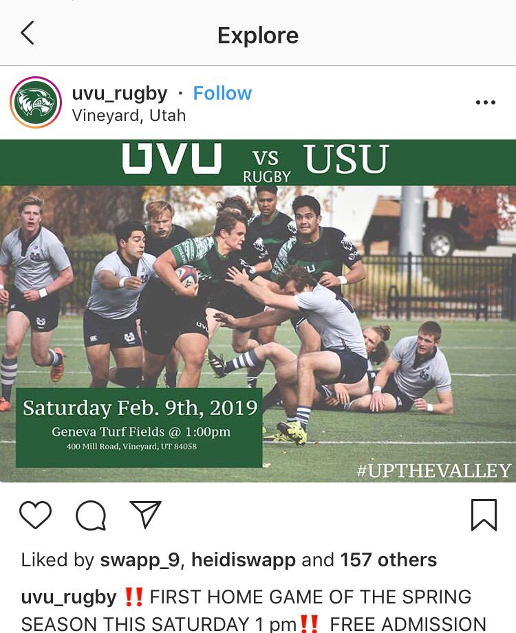 Who's tryna come with? 🏉