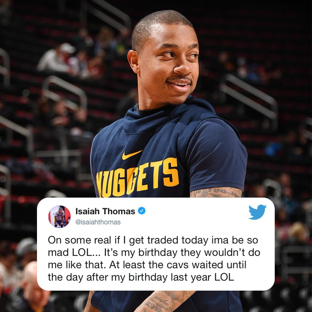 .@isaiahthomas doesn't want to be traded on his birthday �� https://t.co/Y6lo4T7PuV