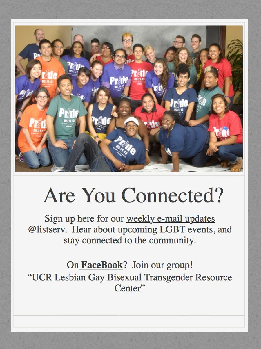 OMG .. How cute and old is this ... Look at us #TBT to 2013 @UCRLGBTRC ...
