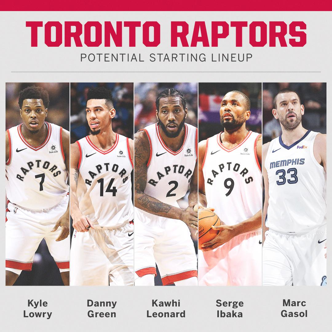 A look at the Raptors' potential starting 5 ... �� https://t.co/jwo5AWYQDy
