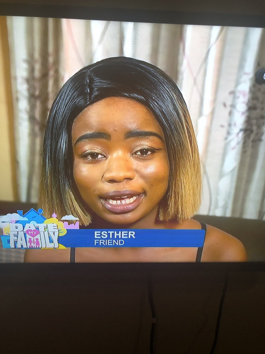 Esther with an awesome face beat 💀💀😬😬 #DateMyFamilyZambia