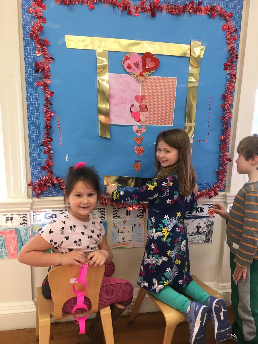 Valentine's Day Bulletin Board full of love and 100% designed and created by the children of 1Mu. #ChildLedSTEAM #Cooperation #Collaboration #ExecutiveFunction #TheGloriousAftermath #TheyHumWhenTheyreHappy @brimmerandmay