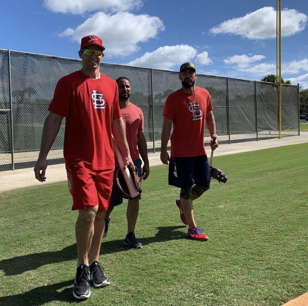 Paul Goldschmidt and Matt Carpenter already down in Jupiter, FL for Spring Training. Baseball is almost here.