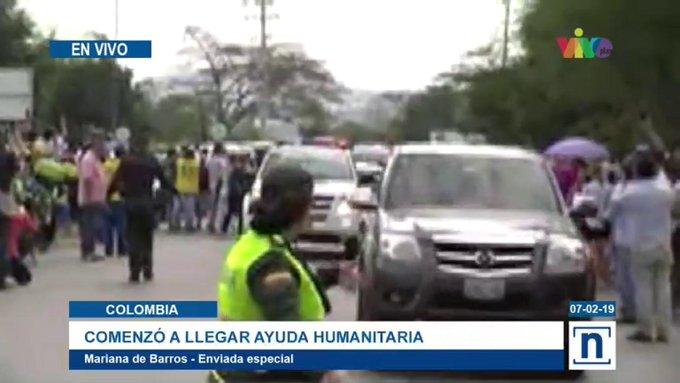 Primeros camiones con ayuda de EE.UU. llegan a la frontera con Venezuela
