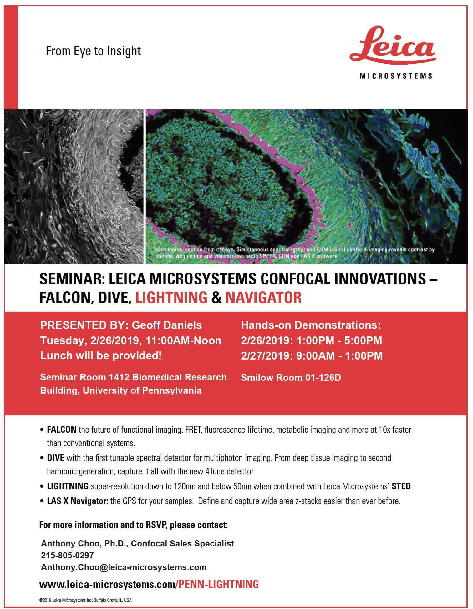 Cdb Microscopy Core On Twitter Calling All Researchatpenn And Chop Research Microscopists Come To Brb On Feb 26 To Learn About The Latest Leicamicro Add Ons For Confocals Then Try Out Navigator And Lightning