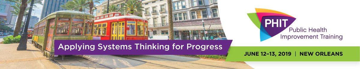 We are seeking exciting and engaging sessions for the 2019 Public Health Improvement Training (PHIT). PHIT offers two days of interactive, hands-on sessions, intensive peer sharing and learning, and intimate networking opportunities. Submit today at http://bit.ly/2UDfUku.