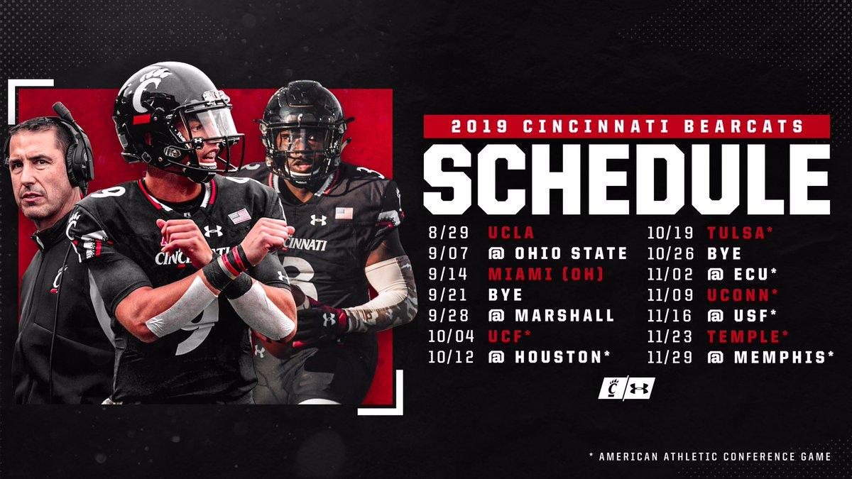 Cincinnati Football Schedule 2019 Cincinnati Football on Twitter: