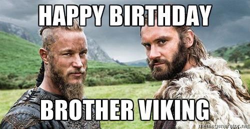 Поздравление с днем рождения викинга в картинках