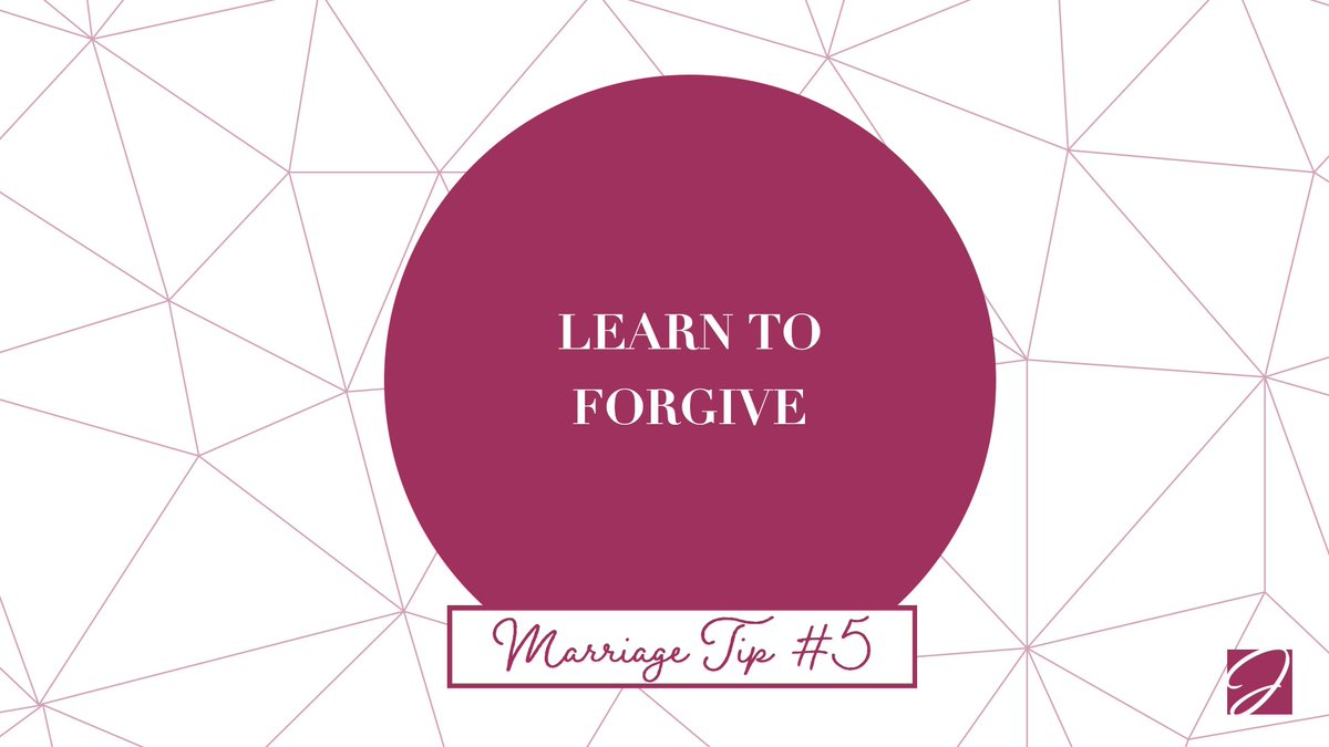 Marriage Tip #5: Holding a grudge only makes you unhappy…learn to forgive! #MarriageTip #LearnToForgive