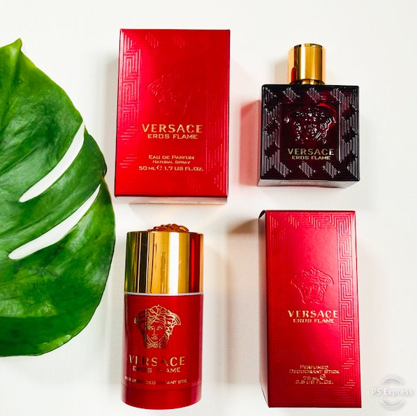 Versace Eros Flame is a citrus spicy-woody scent for him that also smells incredible on women. It has notes of Italian citrus, black pepper, rose, vanilla, woods & rosemary. Win this set! To enter, follow @davelackie & RT #VersaceEros